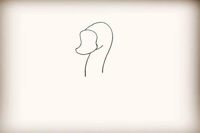 每日一画 | 《大白鹅》的简笔画,是不是像数字2?