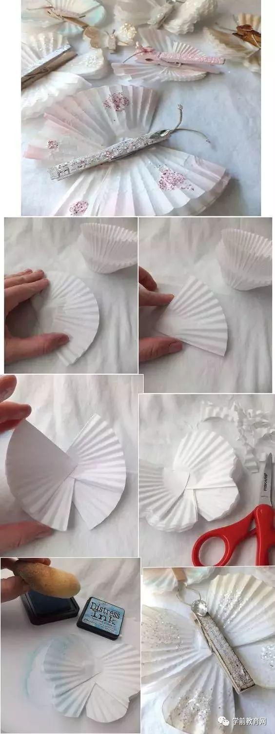 创意手工:100款幼儿园蝴蝶创意手工制作,太美了!