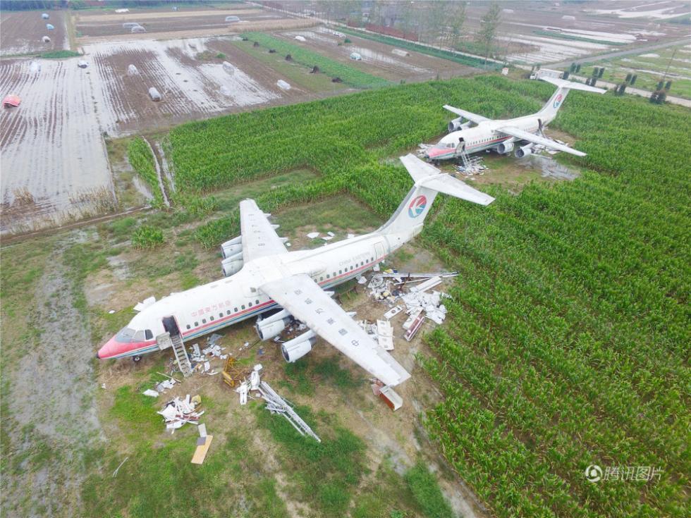 河南驻马店新蔡县一土豪800万买两架飞机供人参观