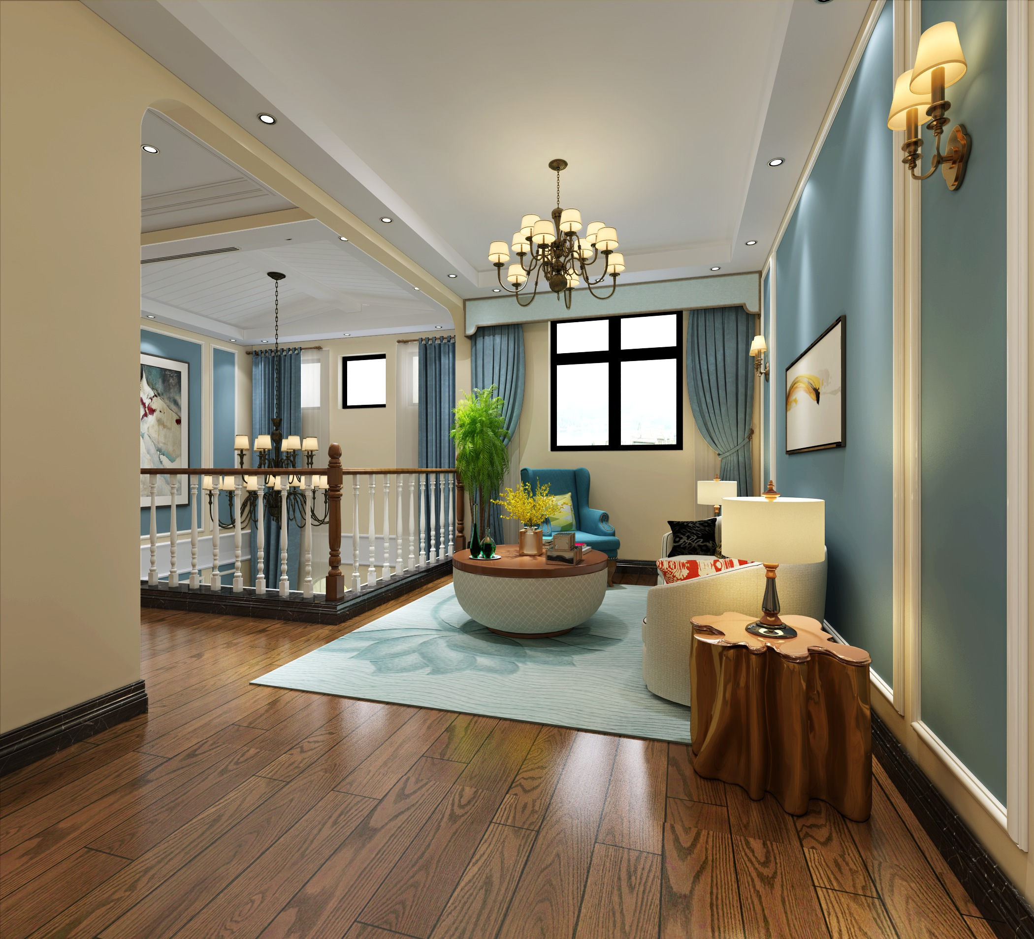 晒晒我的新房装修,美式风格设计深得我心,很洋气!