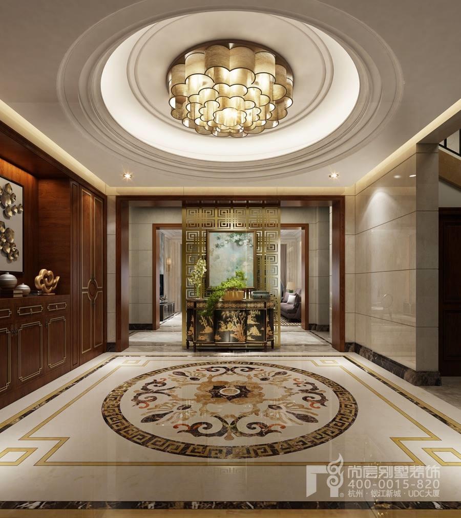 500方新中式装修风格效果图-玄关