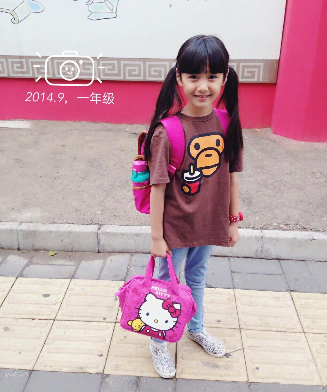 张伦硕的女儿小考拉第一次拍戏,古装造型好漂亮