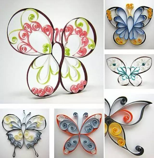 立体的衍纸作品很多,蝴蝶绝对是代表类型之一,衍纸各色蝴蝶多不胜数,这款蝴蝶的风格属于经典风,是立体作品入门课程中必练之一,制作简单,颜色搭配可以随意搭配,但要保持现实中蝴蝶色彩的生物风格:对称性,翅膀边缘的边线伪装色,以及翅膀的形状。在不破坏生物体征的前提下,颜色可以随意搭配,艺术来源于生活,在你的手法熟练之后,多多观察,你的作品表现上将更多受益!
