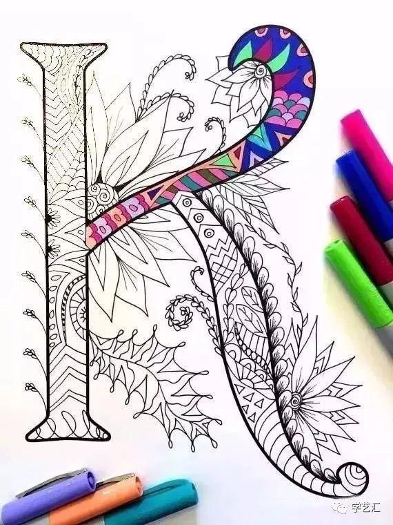 普通黑色水笔画出黑白线描之后, 可以用马克笔,水彩,彩铅等颜料涂色