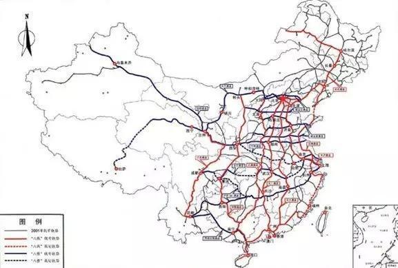 我国中长期铁路规划网