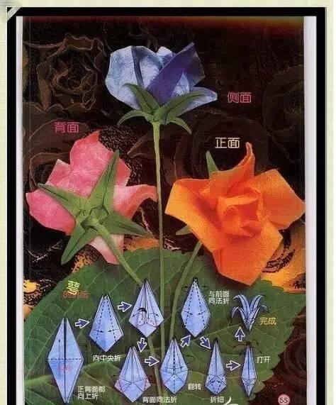 六款玫瑰花折纸手工,用来做幼儿园教程孩子绝对喜欢!