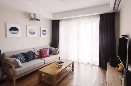 小户型装修照样可以花样百出, 客厅装投影仪享受生活!