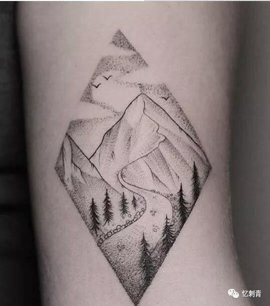 纹身手稿:小图案,大风景