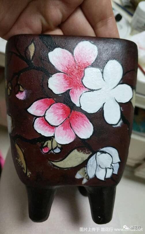 [diy] 手绘花盆步骤图