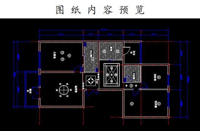有小户型,中等户型,大户型室内平面设计图纸,适合cad室内装潢设计学