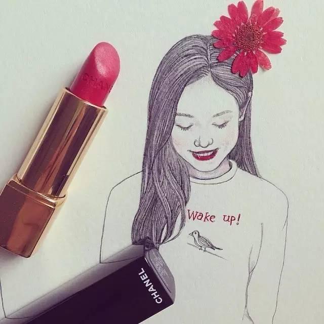 精致插画, 插画师安东奈娜手绘水彩系列美人图