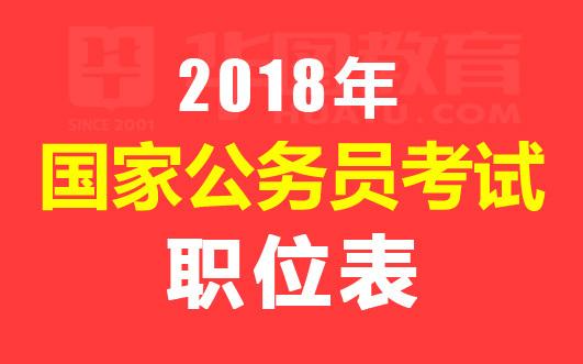 2018年国考报名职位表_华图国家公务员职位表