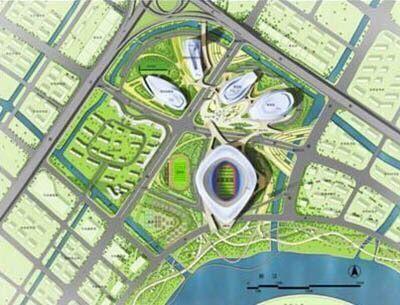 宁波奥体中心市政绿化工程图片