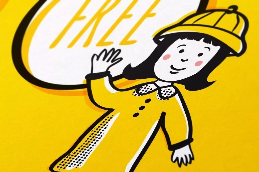 黄色零食卡通海报背景