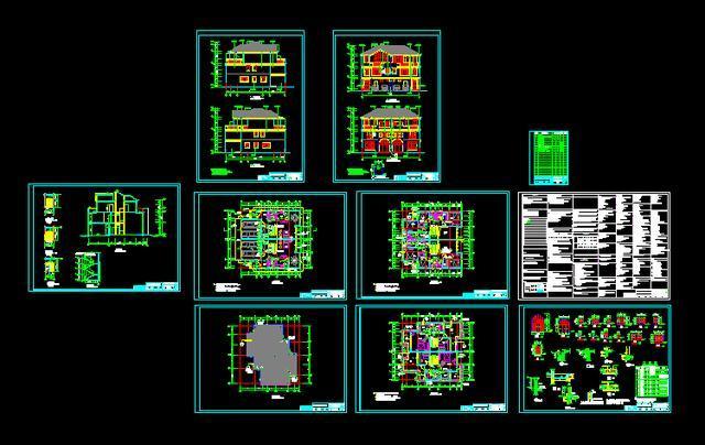 科技 正文  本图库为cad房屋设计图,图纸包含一层二层三层联排双拼