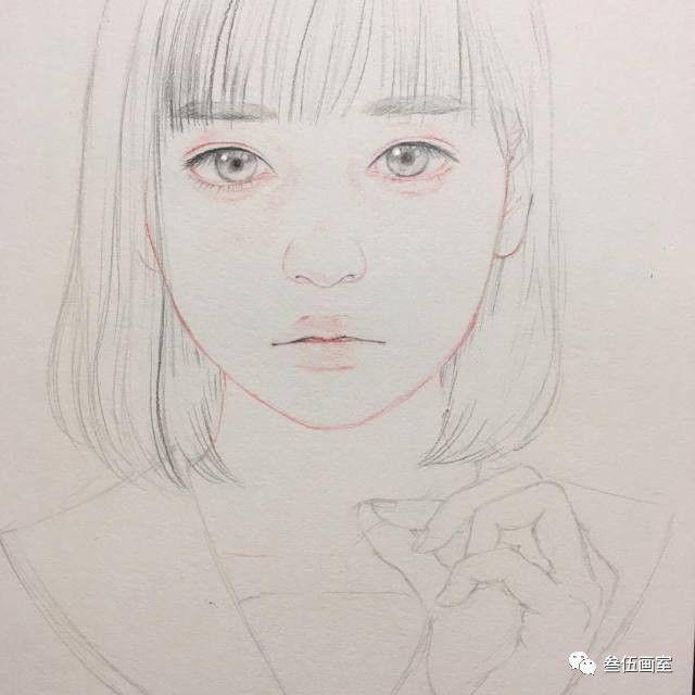 从线稿开始,她的画里的每个女孩就美得怦然心动图片