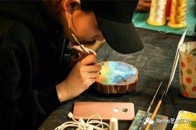 沙龙活动|手绘年轮木片画