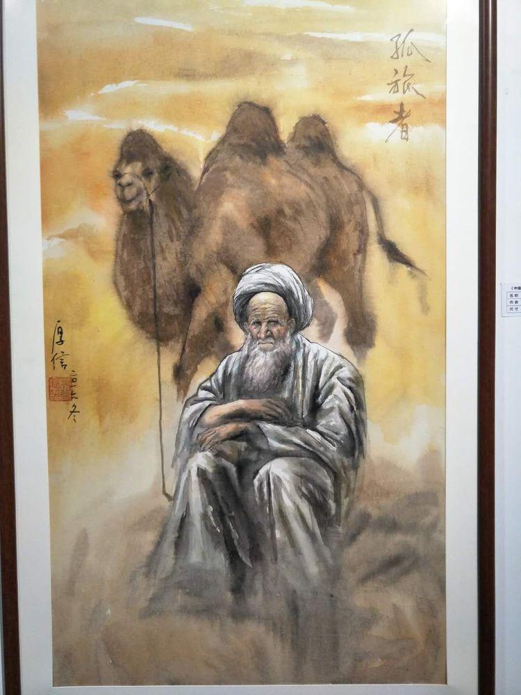 吴厚信老师创作的油画长卷《中国记忆与中国梦》,该作长达22米,用画笔