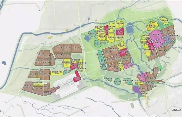 内蒙古和林格尔新区核心区单元划分规划图(阶段性成果)