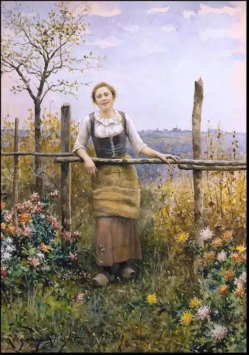 德国油画家笔下的农妇之美
