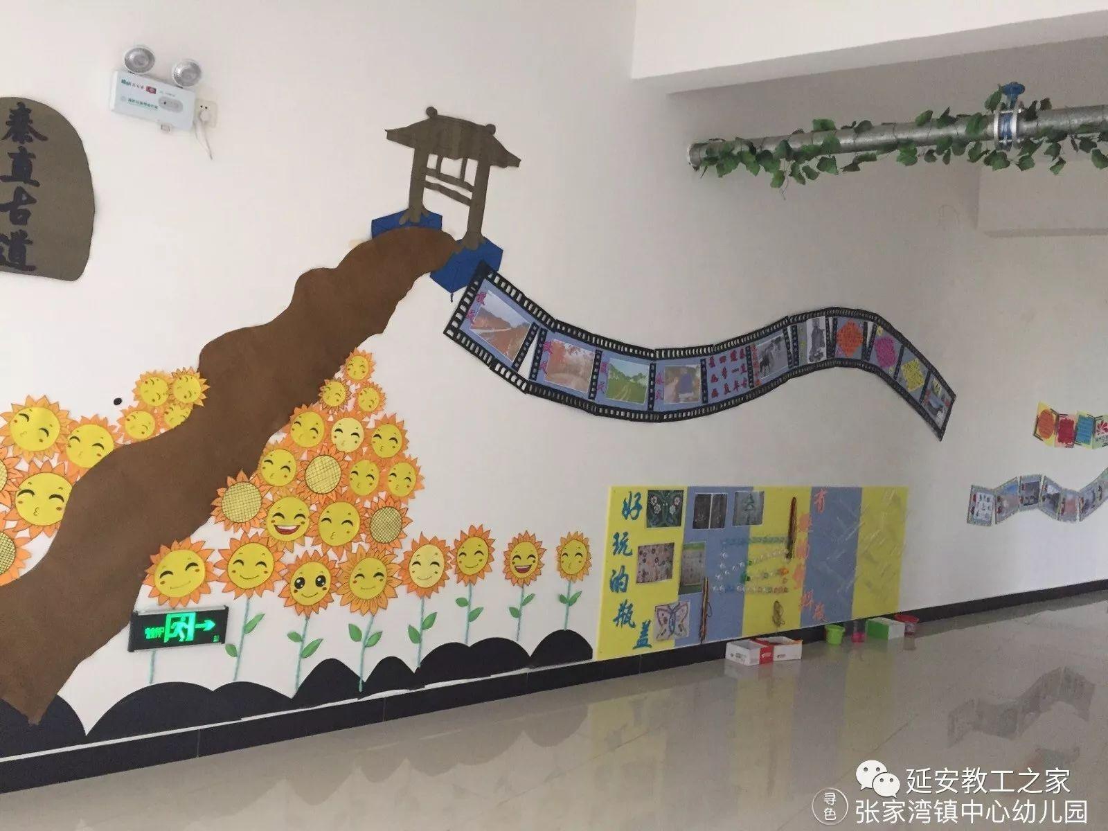 """教育 正文  二楼楼道以""""中国风""""为主题,让幼儿既了解了我国的京剧艺术图片"""