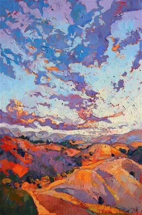 色彩风景画_画色彩风景,颜色一定要丰富!