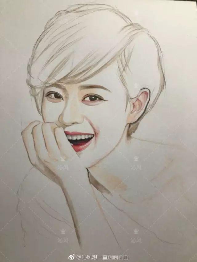 孙俪手绘教程  娘娘画完了接着开始是白浅(刘亦菲)的手绘教程了