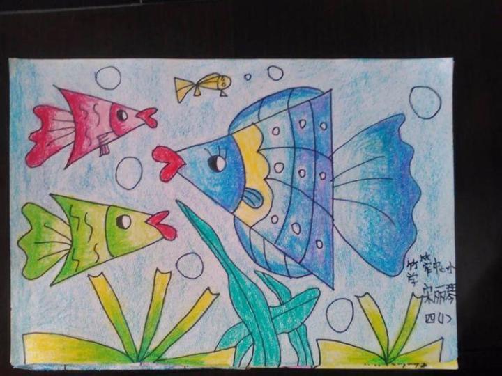 坎田小学二年级学生参加夏加儿美术课《漂亮的包装纸》图片