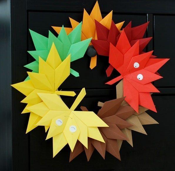 手工| 枫叶花环——幼儿园的秋季美搭