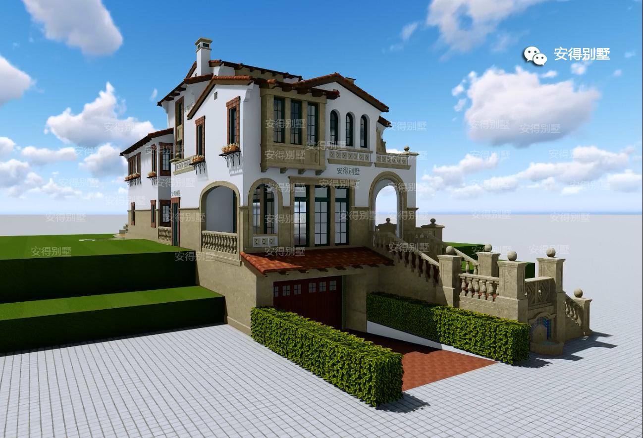 农村三层欧式别墅,外观豪华,户型大气