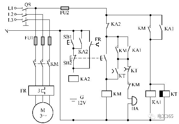 45张电工常用电动机控制电路图,值得收藏图片