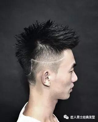 飞机头,适合发质粗硬发量较厚的瘦脸人群图片