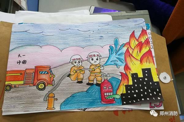 郑州市公安消防支队开展少年儿童消防绘画大赛,1309名图片