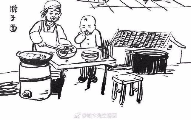 一位外地网友眼中的陕西美食 简笔画勾勒出老西安的图片