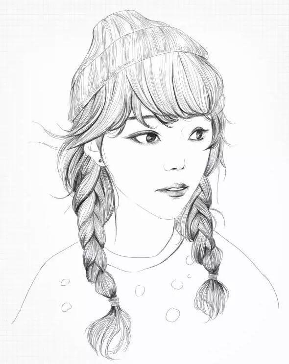 铅笔美少女教程:为喜欢的小姐姐画幅画吧!