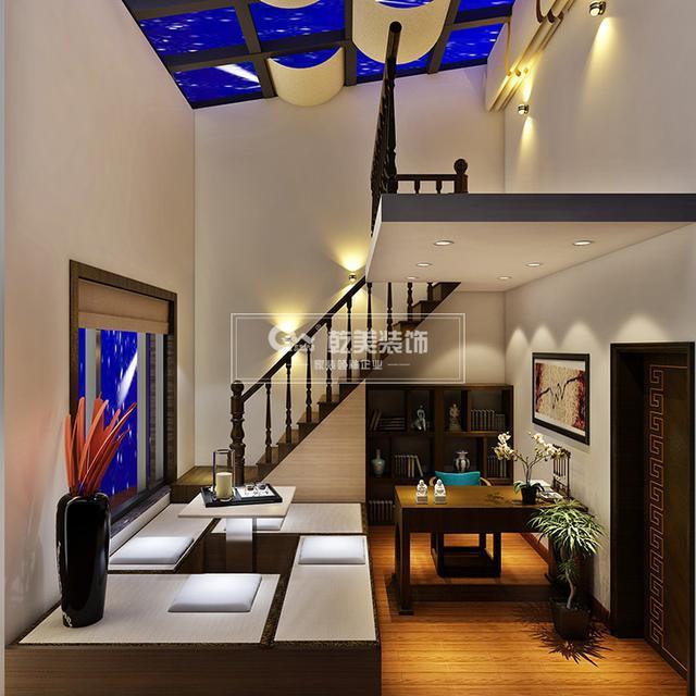昆明华夏御棠小区,140㎡房子装修设计简约新中式风图片