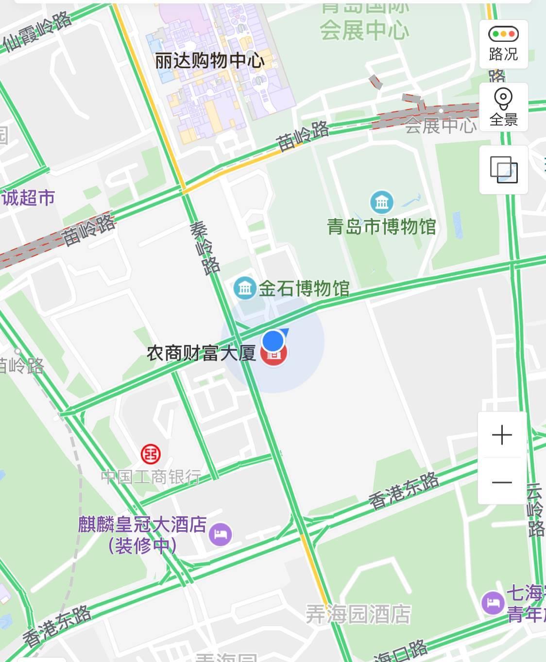 青岛大剧院 丽达 地图