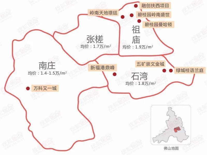 佛山今年最后一个季度51个纯新项目曝光!(内附高清新盘地图)图片