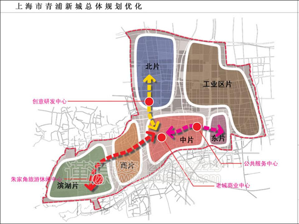 青浦新城规划图