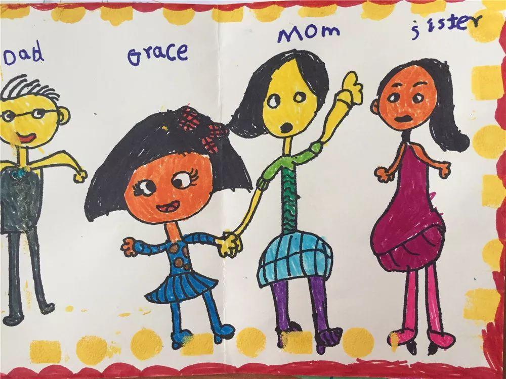 教育 正文  上周周末一年級的英語預習作業是采用趣味繪畫制作形式圖片