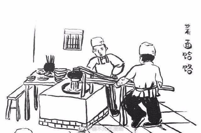 外地网友手绘陕西美食简笔漫画 仿佛回到老西安生活场景