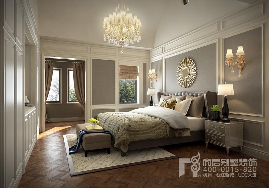 500方法式轻奢风格装修别墅设计效果图-卧室