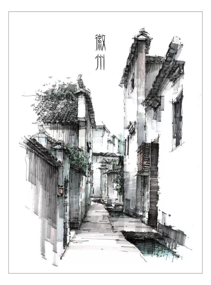 有时候有一点透视的感觉就可以,这样可以把建筑的空间感表现出来,对于