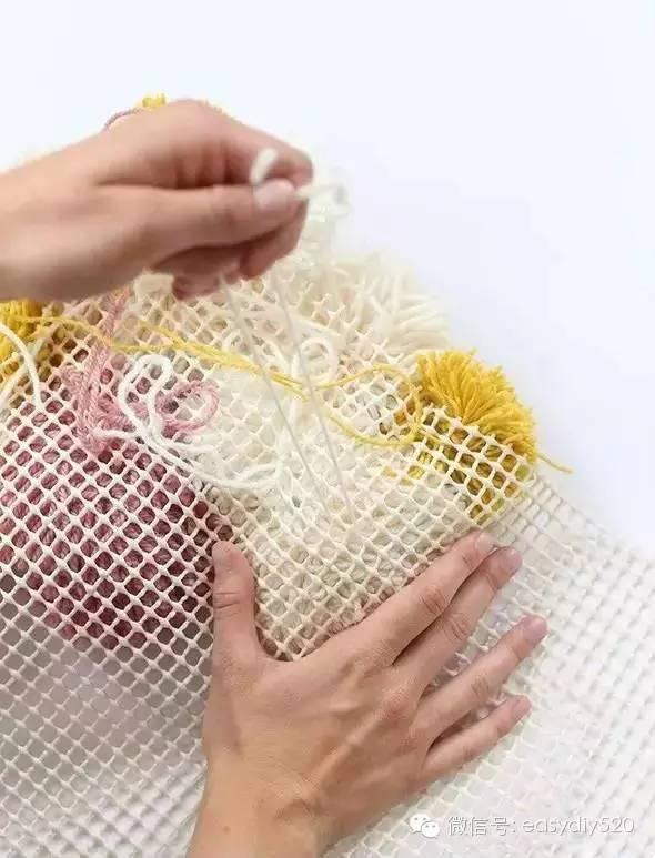 diy毛线球编织地毯