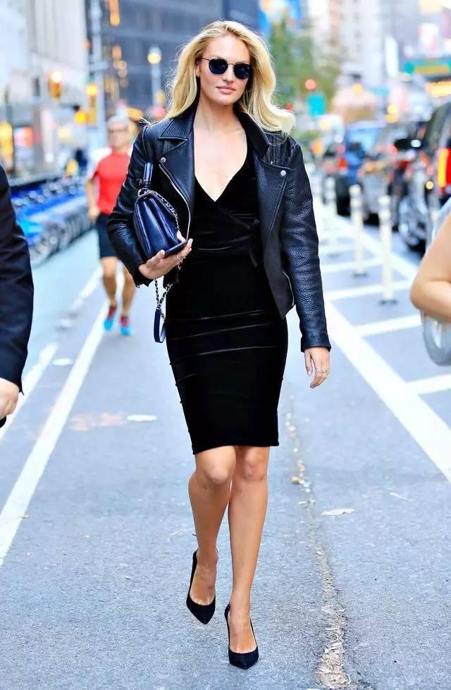 皮衣可以搭配百种单品,但论好看好搭,我只服连衣裙!