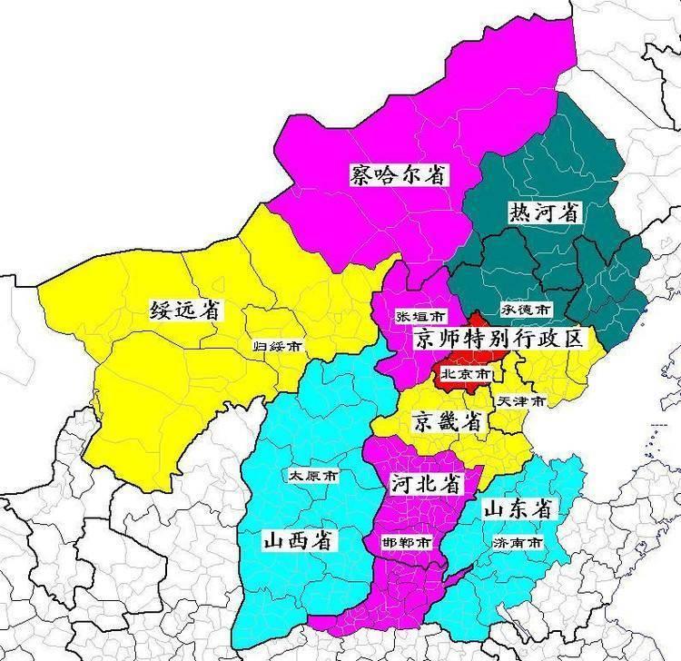 中国地图上消失的省份图片