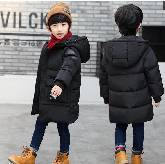 男童棉衣2017新款中长款加厚儿童冬装棉袄童装中大童棉服外套韩版