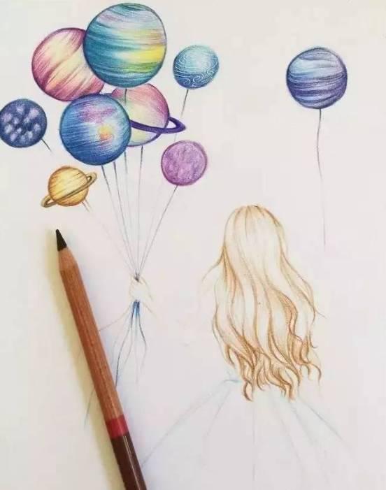 教程 彩铅手绘插画,很适合小白临摹!