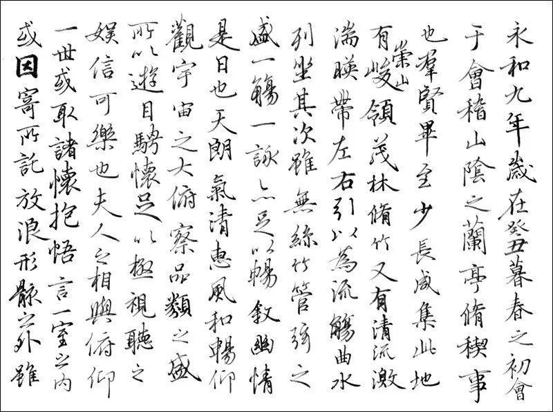 硬笔竞临《兰亭序》,谁写得最好?图片