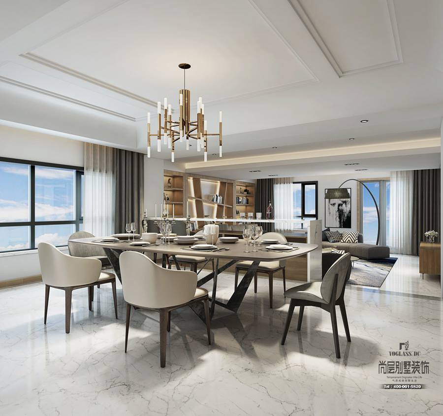 530方现代风格装修设计方案-餐厅